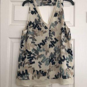 Multi color sleeveless blouse
